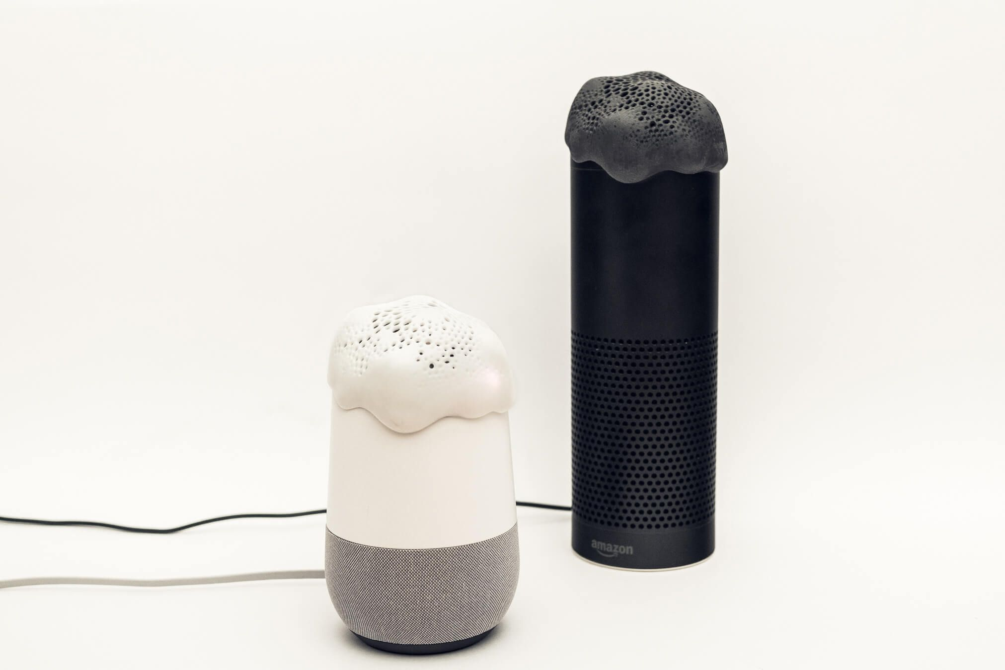 Alias cover for an Alexa or Google Home speaker