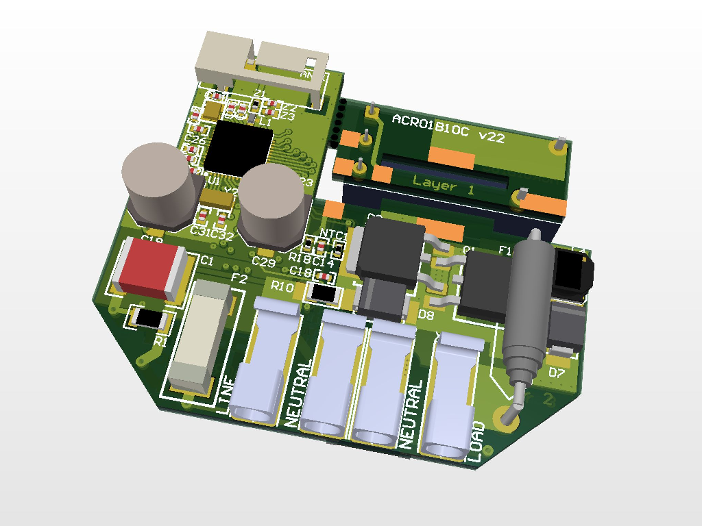Crownstone built-in One PCB