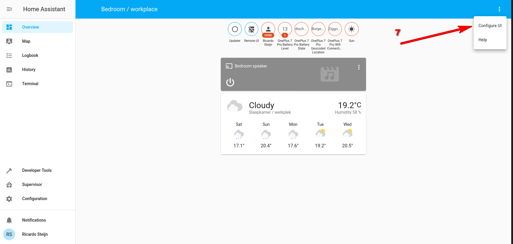 Home Assistant Configure UI