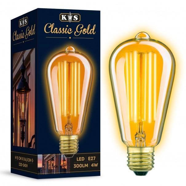 Classic Gold Rustic LED Bulb