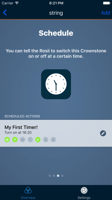 Screenshot schedule