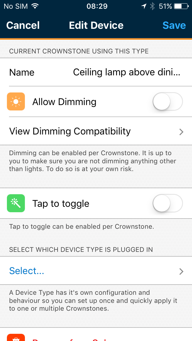 Crownstone tap-to-toggle