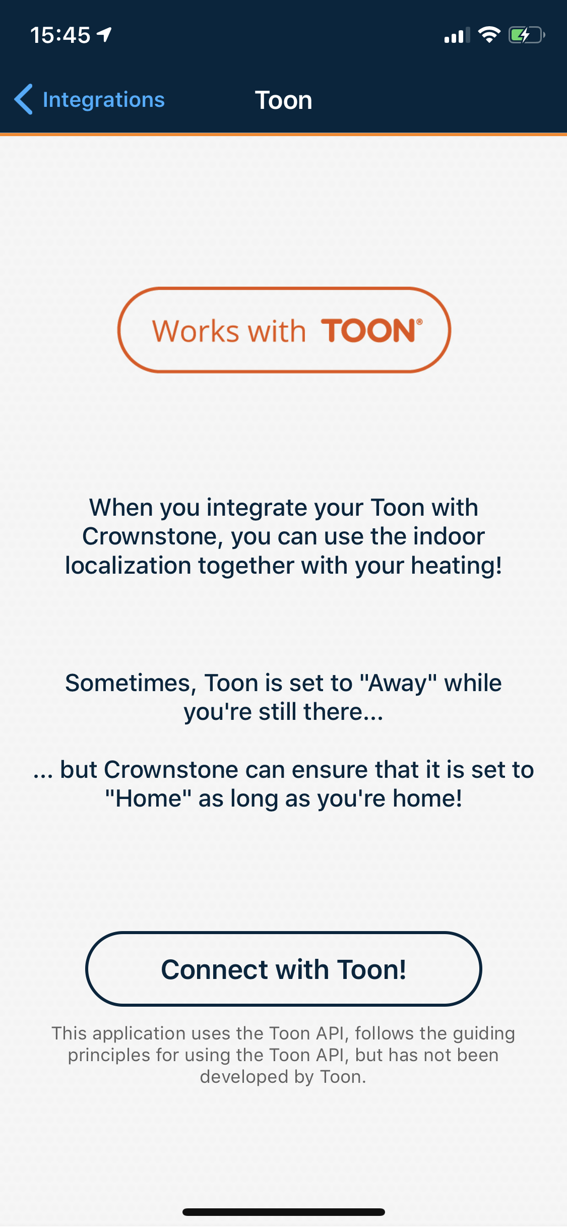 Toon within the Crownstone app